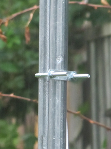 Two conduits bolted together