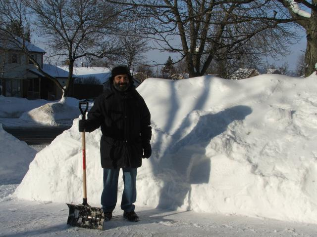 Southern Ontario 2008 snowbanks after large storms
